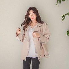 Seoul Fashion - Zip-Up Flight Jacket