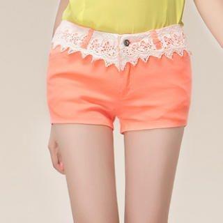 Ringnor - Lace-Waist Shorts