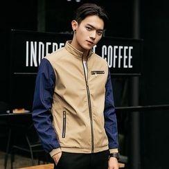 2RZ - Color-Block Zip Jacket