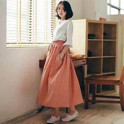 11.STREET - Linen Maxi Skirt