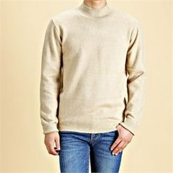 THE COVER - Mock-Neck Knit Top