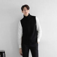 Seoul Homme - Turtle-Neck Knit Vest