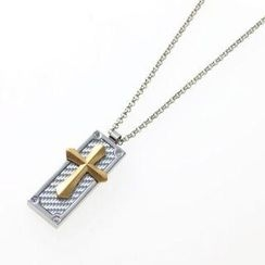 Samudra Raccolta Gold Cross Pendant with Chain