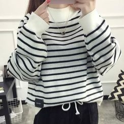 Acoustic Rain - Striped Oversized Sweater