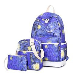 VIVA - Set of 3: Milky Way Print Backpack + Crossbody Bag + Pouch