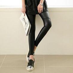 Ranee - Faux-Leather Leggings