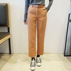 Envy Look - Straight-Cut Dress Pants with Belt