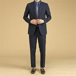 THE COVER - Set: Flap-Pocket Blazer + Tapered Dress Pants