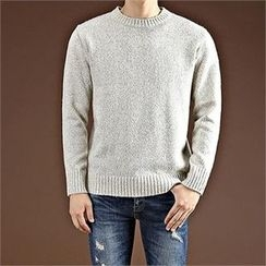 THE COVER - Crew-Neck Mélange Sweater