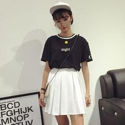 Dasim - Pleated A-Line Skirt