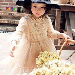 Cuckoo - Kids Long-Sleeve Mesh Dress