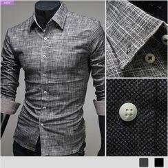 WIZIKOREA - Brushed Fleece Check Shirt