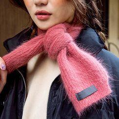 chuu - Angora-Wool Blend Knit Scarf