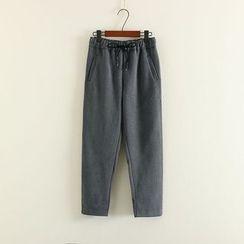 Mushi - Drawstring Harem Pants