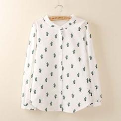 Tangi - Print Linen Shirt