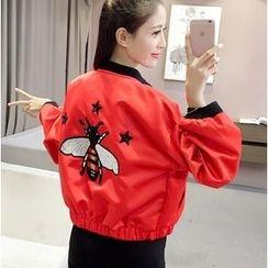 Oaksa - Embroidered Bomber Jacket