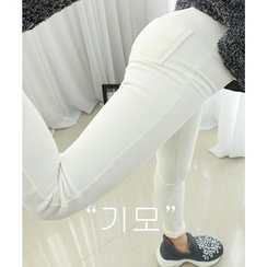 Dodostyle - Brushed Fleece Leggings Pants