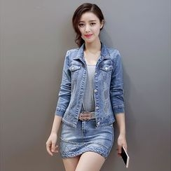 Romantica - Set: Denim Jacket + Skirt
