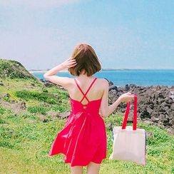 chuu - Sweetheart-Neck A-Line Mini Sundress