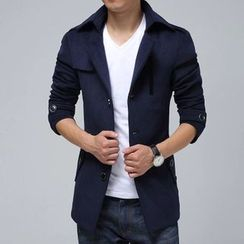 Bay Go Mall - Single Breasted Trench Jacket