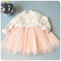 Rakkaus - Kids Lace-Panel A-Line Dress
