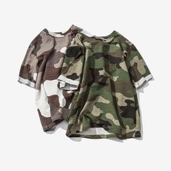 Soulcity - Short-Sleeve Camo T-Shirt