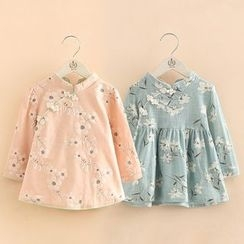 Seashells Kids - Kids Long-Sleeve Floral Dress