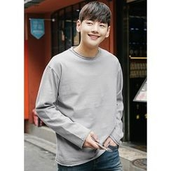 JOGUNSHOP - Round-Neck Long-Sleeve T-Shirt