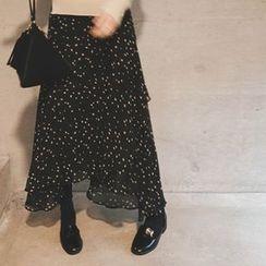 mimi&didi - Patterned Chiffon Long Skirt