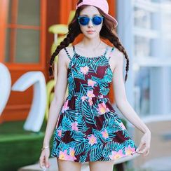 Beach Date - Floral Swim Dress / Beach Shorts