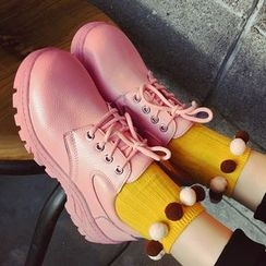 SouthBay Shoes - Lace-Up Platform Shoes