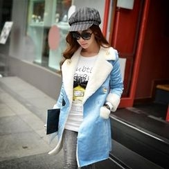 Dabuwawa - Embroidery Fleece-Lined Coat
