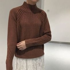 Ranche - Mock Neck Thick Sweater