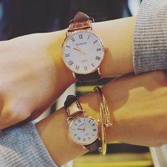 Honey Bee - Couple Matching Strap Watch