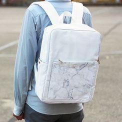 ideer - Kendall White Marble Backpack