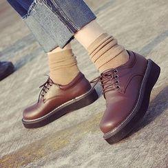 SouthBay Shoes - Platform Oxfords