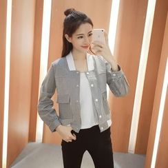 CHIH - Pinstripe Panel Buttoned Jacket