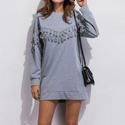 Richcoco - Tasseled Sweat Dress