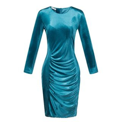 LIVA GIRL - Long-Sleeve Sheath Dress