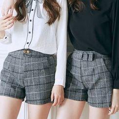 BAIMOMO - 格子短褲