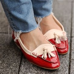 SO Central - Tasseled Color-Block Loafers
