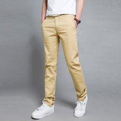 Kunji - 配色边窄身裤