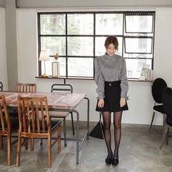 mimi&didi - A-Line Mini Skirt with Belt