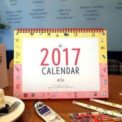 BABOSARANG - 2017 'ODONG ET VALERIE' Desk Calendar (L)