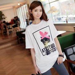 CLICK - Short-Sleeved Print T-Shirt