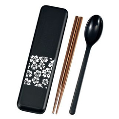 Hakoya - Hakoya Spoon & Chopsticks Set Sakurako White