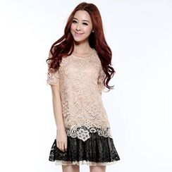 O.SA - Two-Tone Lace Dress