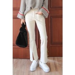 PPGIRL - Slit-Front Pocket-Detail Pants