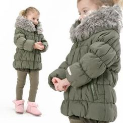 PasaPas Faux-Fur Trim Padded Jacket