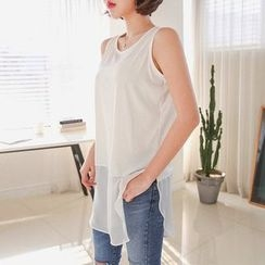 Seoul Fashion - Lace-Hem Tank Top